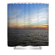 A Sunset On The Last Day At Sea Shower Curtain