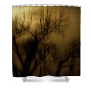 A Surreal Evening Shower Curtain