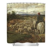 A Sussex Lane, 1872 Shower Curtain