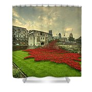 A Sweep Of Poppies  Shower Curtain