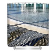 A Swimming Pool Shower Curtain