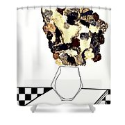 A Table At Johnny Rockets Shower Curtain