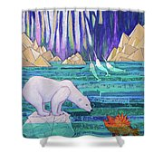 A Tale Of Light And Ice Shower Curtain