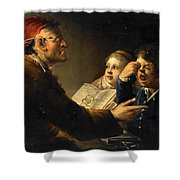 A Teacher And His Pupils Shower Curtain