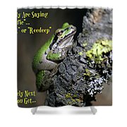 A Terrific Frog #2 Shower Curtain