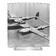 A Test Flight Of The Yp-38 Service Test Shower Curtain