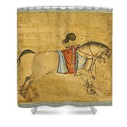 A Tethered Stallion Shower Curtain
