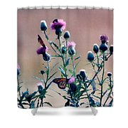 A Thistle Community Shower Curtain