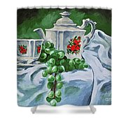 A Time For Tea Shower Curtain