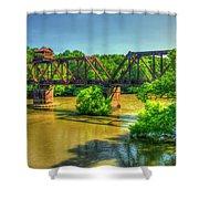 A Time Gone By Railroad Bridge Lumber City Georgia Shower Curtain