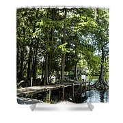 A Time To Go Fishing Shower Curtain
