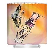 A Toast Shower Curtain