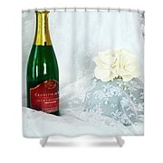 A Toast To Love And Laughter Shower Curtain