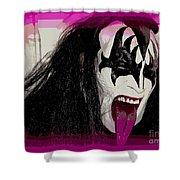 A Tongue Kiss Shower Curtain