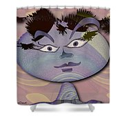A Topsy Turvy World Shower Curtain