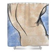 A Torso Shower Curtain