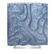 A Touch Of Blue Shower Curtain
