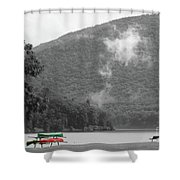 A Touch Of Color By The Lake Shower Curtain