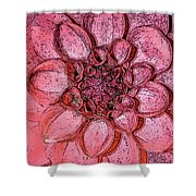 A Touch Of Coral Shower Curtain