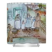 a touch of Holland scroll Shower Curtain