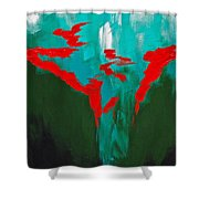 A Touch Of Red Shower Curtain