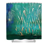 A Touch Of Teal Shower Curtain