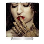A Touch Of The Lips Shower Curtain