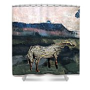 A Tough Horse  Shower Curtain