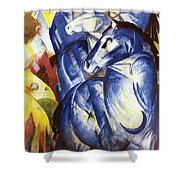 A Tower Of Blue Horses Shower Curtain