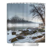 A Tranquil Evening Shower Curtain