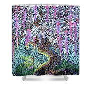 A Tree Of Many Colors Shower Curtain