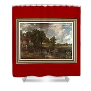 A Tribute To John Constable Catus 1 No.1 - The Hay Wain L A  With Alt. Decorative Ornate Printed Fr  Shower Curtain