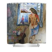 A Tribute To Salvador Dali Shower Curtain