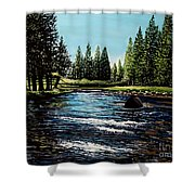 A Trip To The Mountains Shower Curtain