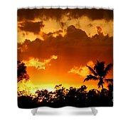 A Tropical Sunset Shower Curtain