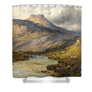A Trout Stream Near Stirling Shower Curtain