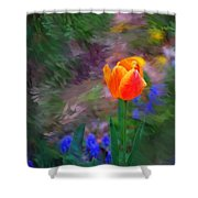 A Tulip Stands Alone Shower Curtain
