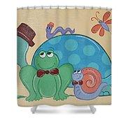 A Turtles Friends Shower Curtain