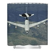 A U.s. Air Force E-3 Sentry Airborne Shower Curtain