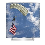 A U.s. Air Force Member Glides Shower Curtain