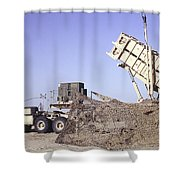 A U.s. Army Patriot Surface-to-air M901 Shower Curtain