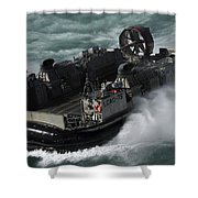A U.s. Navy Landing Craft Air Cushion Shower Curtain