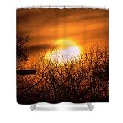 A Vague Sun Shower Curtain