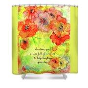 A Vaseful Of Sunshine Shower Curtain