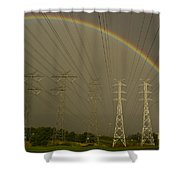 A Vast Array Of Electrical Towers Shower Curtain