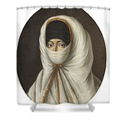 A Veiled Lady Shower Curtain