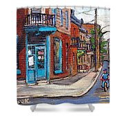 A Vendre Petits Formats L'art De Montreal Originals For Sale Wilensky's Diner Best Montreal Scenes Shower Curtain