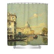 A Venetian Canal Shower Curtain