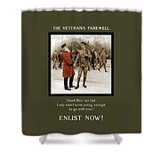 A Veteran's Farewell - Ww1 Shower Curtain