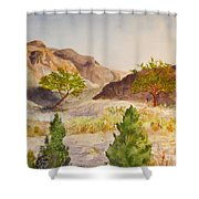 A View At Red Rock Shower Curtain